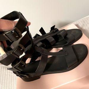 Zara gladiator sandals black